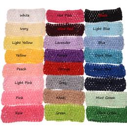 Canada 12pcs tricot bandeau cheveux bande élastique accessoire de cheveux évider bandeau mode chapeaux cheap hollowed out headband Offre