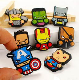 Wholesale clothing avengers - Cute The Avengers Icon Brooch Pins Badge Anime Figure Super Heros Pins Button Badge Backpack Clothes Hat Decor