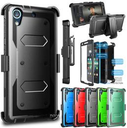 Caso de la cubierta frontal del iphone online-Caso del robot robusto Casos híbrida de la cubierta con el frente de la pantalla para el iPhone + Clip X 8 7 6S Plus Samsung S8 S9 Plus Nota 9 8 LG stylo 3 4