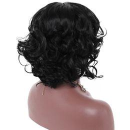 Cabelo sintético japonês on-line-Peruca Rose net europeus e americanos modelos de explosão Moda Feminina grande cabelo no couro cabeludo peruca fêmea curto encaracolado peruca de cabelo Perucas Sintéticas Japonês