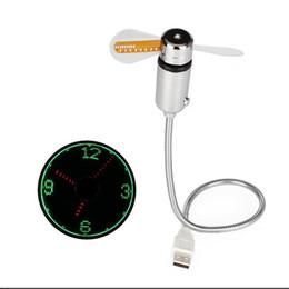Mini USB Fan gadgets Esnek Gooseneck LED Saat Dizüstü PC Notebook Için Zaman Ekran Yüksek Kalite Dayanıklı Ayarlanabilir 059 nereden