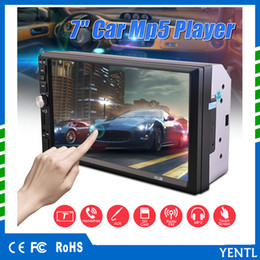 Wholesale mp5 player bluetooth - Free shipping YENTL 2 Din Car Video Player Car DVD 7 inch Bluetooth FM Radio MP5 Player