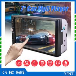 Leitor de mp3 dvd de carro on-line-Frete grátis YENTL 2 Din Car Player de Vídeo Do Carro DVD 7 polegada Bluetooth Rádio FM MP5 Player