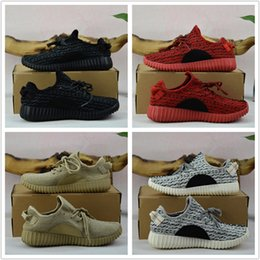 Wholesale Box V1 - 2018 mens boost 350 v1 kanye west shoes womens running shoes for men SPLY-350 Free Shipping With Box