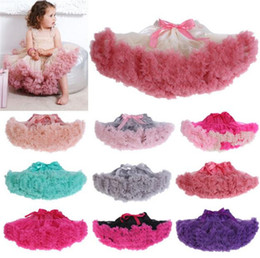 Wholesale fluffy skirts - baby girl kids Christmas pettiskirt tutu short skirt tulle fluffy skirt satin ribbon bow princess lace pink costumes B11