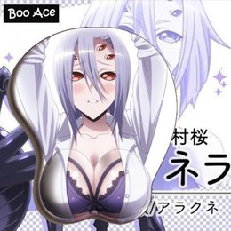 Wholesale girls boobs - Monster Musume No Iru Nichijou - Rachnera Arachnera Anime Sexy Girl 3D Boobs Gaming Mouse pads with Silicone Gel Wrist Rest