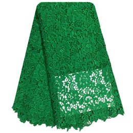 Wholesale Swiss Lace Yard - Free Shipping African swiss voile lace high quality.Green Color wedding lace African Fabric 5 Yards 100% Cotton Swiss Voile Lace