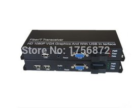 Vídeo de fibra óptica on-line-1 Par KVM vídeo HD Multiplexer Óptica Extensor De Fibra Óptica VGA / USB / Teclado Mouse de Áudio Único Fibra De 20 KM SC