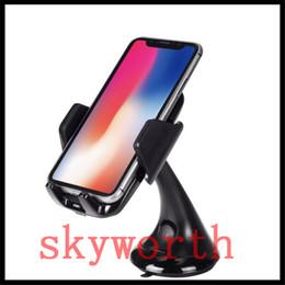 Station d'accueil de voiture en Ligne-Pour Iphone X Fast Wireless Charger Car Mount Véhicule Quick Qi Wireless Chargeur Dock pour Samsung Galaxy s7 s8 plus note8 avec forfait