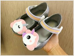 Wholesale Heeled Shoes For Kids - Mini Melissa 2018 Unicorn Infant Shoes New Winter Jelly Shoe Dargon Sandals For Cheap Girls Fish Mouth Girl Non-slip Kids Sandal Toddler