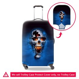Wholesale Protective Covers For Luggage - Coolest Luggage Covers for Men 3D Print Skull Patterns on 18-30 Inch Suitcase Protective for Traveling High Quality Rain Covers for Cap