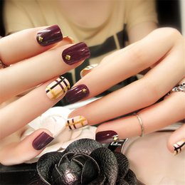 New Fashion fake nails nail products Manicure tablets 24 pcs Superior quality paragraph Nail Sticker Finger Nails Art cheap nail tablets от Поставщики ногтевые таблетки