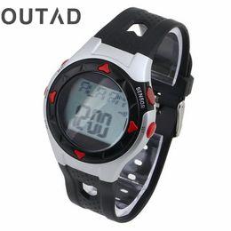 2019 смотреть спортивный пульс OUTAD Спортивные часы Saat Pulse Heart led Водонепроницаемый Открытый Велоспорт Монитор наручные часы Счетчик калорий Упражнение Relogio дешево смотреть спортивный пульс