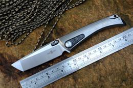 coltello twosun Sconti Coltello chiudibile tascabile TS80 Tanto D2 lama satinata Titanio + manico in fibra di carbonio con clip TwoSun New outdoor hunting Survival Knives Tools