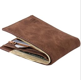 Wholesale mens checkbook wallets - Mens Leather Credit Card Holder Wallet Bifold ID Cash Coin Purse Clutch Bifold Coin Purse Wallet LJJK956
