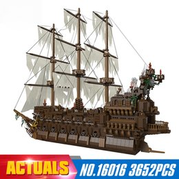 Wholesale Netherlands Gifts - NEW Lepin 16016 3652Pcs Movies Series MOC The Flying the Netherlands Building Blocks Bricks Compatible to Children Gifts