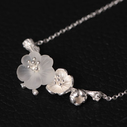 Wholesale Rain Necklace - Original Retro Chinese Wind Handmade Silver Ornaments ,Natural Crystal Pendant Necklace ,Necklace In Rain A Series Of Pure Silver Necklaces