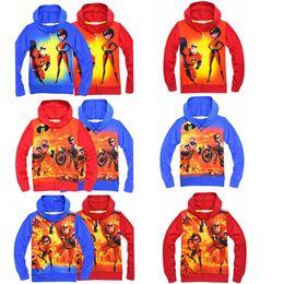 2019 рубашки супер герои 6 цвет супер герой Молния балахон мальчиков печати пальто 2018 осень толстовки кардиган молния рубашка куртка верхняя одежда MMA307 50 шт. скидка рубашки супер герои