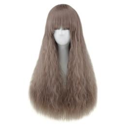 Natural Full Bang Resistente Ao Calor Longo Metade Encaracolado Peruca de Cabelo Ajustável hairpin Respirável hairnet Adequado para todos os tipos de rostos de