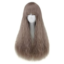 tipos de grampos de cabelo Desconto Natural Full Bang Resistente Ao Calor Longo Metade Encaracolado Peruca de Cabelo Ajustável hairpin Respirável hairnet Adequado para todos os tipos de rostos