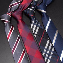 Cravatta cravatta online-Cravatta uomo 6cm cravatte sottili per cravatte a righe Uomo Moda Jacquard Classics Business mens Abito da sposa tessuto Slim Bowtie
