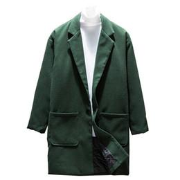 2019 männer wollmäntel 2018 Mode neue Männer Casual lange Wollmischungen / Männer Solid Color Pocket Design Trench Jacke günstig männer wollmäntel