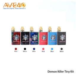 Wholesale red blue deck - Demon Killer Tiny Kit 800mAh Battery Body with Tiny RDA 510 Connector Build Deck 100% Original