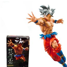 Wholesale finish model - No Box 20cm Dragon Ball Z Super Ultra Instinct Goku Son Gokou PVC Action Figure Collectible UI Model Doll Toy Brinquedos Figuarts Gift