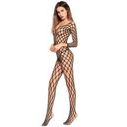 Lingerie de buraco aberto on-line-Europa e nos Estados Unidos super-elasticidade buraco meias oco Siamese instalado lingerie sexy meias Siamese aberto Crotch meias líquidas