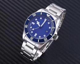 Wholesale Watch Men Chronometer - 2018 Top Noob Factory V7 Version ETA Cal.2824 Titanium ETA Watch Men Blue Dial Pelagos Chronometer Mens 25600TB Rotor Self Winding Waterproo