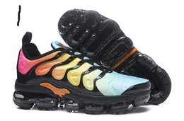 Wholesale Air Plastics - Top quality 2018 Vapormax TN Plus Running Shoes Men Women Air cushion Run Shoes Black White Walking Trainers Sneakers
