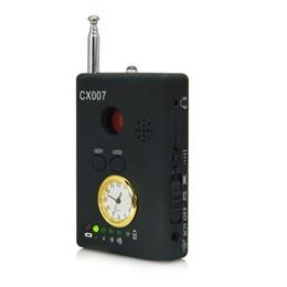 Detector de lentes rf on-line-Frete Grátis GSM Sem Fio de Áudio Bug Detector com Localizador de Lente de Relógio RF Laser Wired Localizadores de Lente Da Câmera Sem Fio