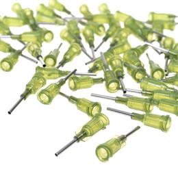 Wholesale wholesale epoxy glue - 100pcs Green Color Metal Blunt Tip Dispensing Needle (14G)
