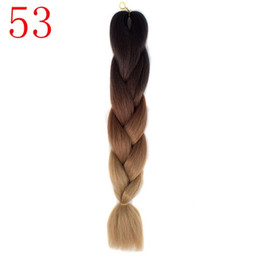 Wholesale Expressions Hair - 100g pcs synthetic hair Extensions Purple Braiding Hair ombre Two Tone High Temperature Fiber expression braiding hair