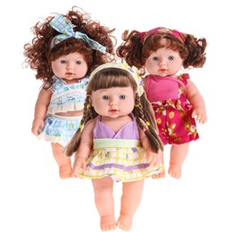 Wholesale Wholesale Reborn Baby Dolls - Reborn Baby Doll Soft Vinyl Silicone Lifelike Newborn Baby Speaking Toy Handmade Infant Play Toys Doll for Kid Gift