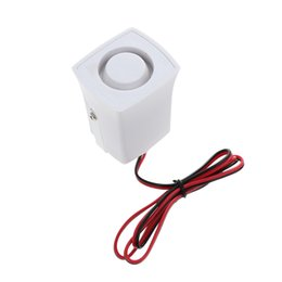 Wholesale loud 12v siren - Loud One Tone 105dB 12V Small Mini Siren Alarm Security Home Car Motorcycle For Home Security Alarm System