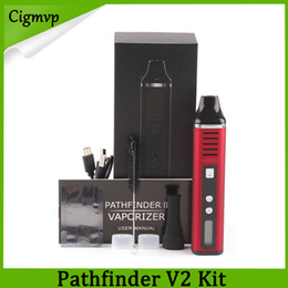 Cabo de temperatura on-line-2018 Pathfinder 2 caneta erva seca kit vaporizador com controle de temperatura do cabo USB herbal vape pen vs IP6 mini kit de cera