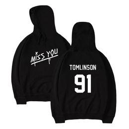 Uma direção mulheres on-line-Moletom com capuz dos homens Louis Tomlinson 91 One Direction 1D impressão sorriso saudades de você lil peep mangas compridas homens mulheres com capuz hip hop hoodies