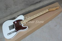Wholesale Custom Pickguard Guitar - F Electric Guitar, Custom American Deluxe White top Red pickguard Red Binding guitar, High quality Telecaster
