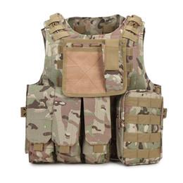 Uniforme del ejército camo online-Chaleco táctico Ejército SWAT Uniforme Molle Combat Camuflaje chaleco Equipo de trabajo Hunter Protección Camo