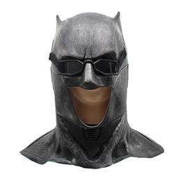 Yetişkin Justice League Lateks Batman Maske Cosplay Süper Kahraman Bruce Wayne Film Parti Maskeleri Kask Topu Sahne Kostüm Aksesuarları cheap batman ball nereden batman topu tedarikçiler