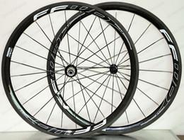 ruota ffwd 38mm Sconti Ruote in carbonio super leggero 700C Climbing ruote 38mm profondità 25mm larghezza copertoncino / Tubular Road bike ruote in carbonio UD finitura opaca FFWD 4R decalcomanie