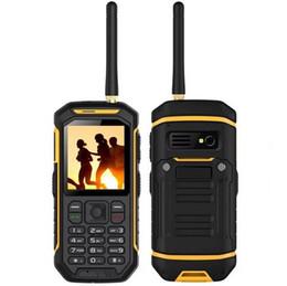 Canada JEASUNG X6 UHF Walkie Talkie IP68 Robuste Téléphone Mobile Fonction de l'Eau 2500 mah 2.4 Pouce Double SIM GSM carte avec torche IP67 Offre
