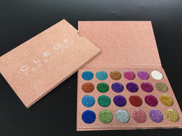 Wholesale Rainbow Magnets - CLEOF 24 color Glitter Injections Pressed Glitters Single Eyeshadow Diamond Rainbow Make Up Cosmetic Eye shadow Magnet Palette