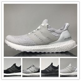 Wholesale Mystery Black - Ultra Boost 3.0 Running Shoes Real Boost Triple White Black Oreo Mystery Grey LTD Multicolor Core Black Men Women UltraBoost Sports Sneakers