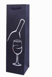 Оптовая творческий вино упаковка бумажные мешки каракули цветные подарочные пакеты подарочная упаковка tote bag37*13*8.5 см от Поставщики оптовая цветная бумага