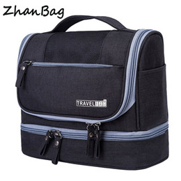 Wholesale travel toiletry bags for men - Designer Hanging Toiletry Bag Travel Cosmetics Bag Waterproof Oxford Organizer for Travel Accessories Toiletry Kit for Men Women