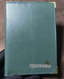 Лучшее издание новый старинный паспорт оригинальные часы сертификат бумажник зеленый кожаный Daydate Gmt Sub 116610 прямая поставка Puretime от