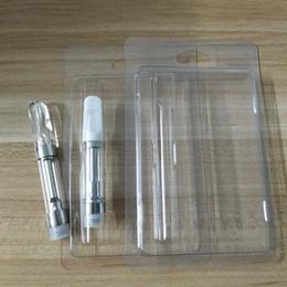 Wholesale blister shell - Clam shell Blister 0.5ml 1ml Vaporizer Pen Cartridges Electronic Cigarettes Wax Vaporizer Vape Cartridge Package Vape Cart Packing