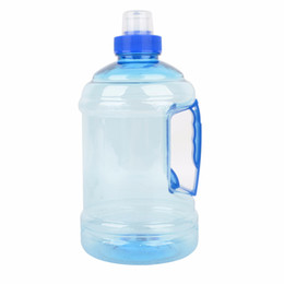 Wholesale Bottle Plastic Water Cap - 5PCS 1L Professional Sport Water Bottle Outdoor Gym Training Drink Cap Kettle With Handle Camping Drinking Bottle